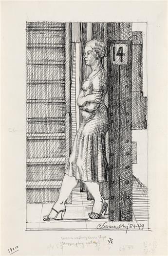 NORMAN SASOWSKY Group of 4 drawings.