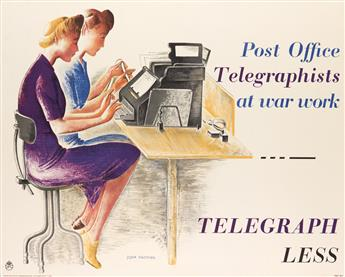 DONIA NACHSHEN (1903-1987). POST OFFICE TELEGRAPHISTS AT WAR WORK - TELEGRAPH LESS. 1943. 29x36 inches, 73x91 cm. Johnson Riddle & Co.,