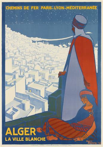 ROGER BRODERS (1883-1953). ALGER / LA VILLE BLANCHE. 1920. 42x29 inches, 108x75cm. Cornille & Serre, Paris.