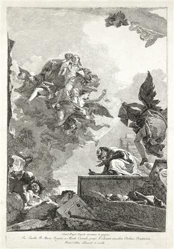 GIOVANNI D. TIEPOLO Apparizione della Virgine a S. Simone Stock.