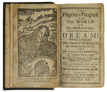 BUNYAN, JOHN. The Pilgrims Progress.  1758-58-57.  Lacks the final ad leaf.