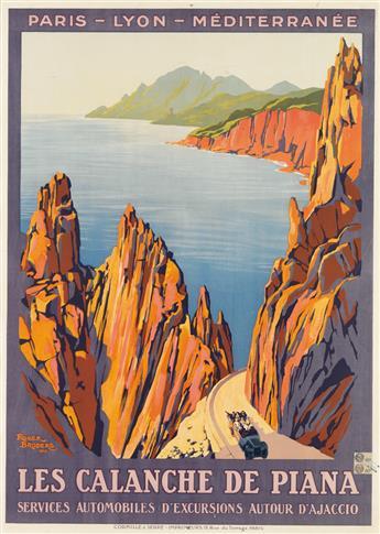 ROGER BRODERS (1883-1953). LES CALANCHE DE PIANA. 1923. 42x30 inches, 107x78 cm. Cornille & Serre, Paris.