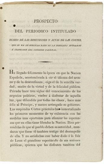 (LAW.) Diario de las discusiones y actas de las cortes.