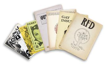 ZINES.  Group of 25 gay zines from the United States, England, and Canada.