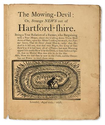 CROP CIRCLES.  The Mowing Devil; or, Strange News out of Hartford-shire.  1678 [i. e., 19th century]
