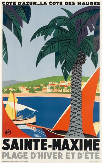 ROGER BRODERS (1883-1953). SAINTE - MAXIME. 1929. 39x24 inches, 99x62 cm. Lucien Serre & Cie, Paris.