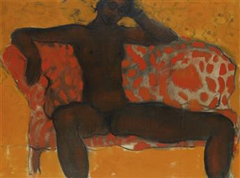 GEOFFREY HOLDER (1930 - 2014) Untitled (Seated Nude).