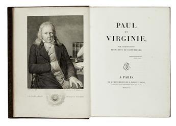 BERNARDIN DE SAINT-PIERRE, JACQUES-HENRI.  Paul et Virginie.  1806.  Quarto issue, with the plates in multiple states.