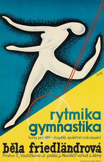 VILEM ROTTER (1903-1978). RYTMIKA GYMNASTIKA / BELA FRIEDLÄNDROVÁ. Circa 1930. 37x24 inches, 94x61 cm. Melantrich, Prague.