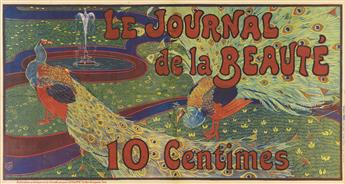 LOUIS J. RHEAD (1858-1926). LE JOURNAL DE LA BEAUTÉ. 1897. 32x59 inches, 82x151 cm. Chaix, Paris.