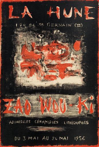 ZAO WOU-KI (1920-2013). LA HUNE / ZAO WOU - KI / AQUARELLES CÉRAMIQUES LITHOGRAPHIES. 1956. 23x16 inches, 59x40 cm.