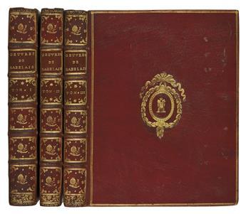 RABELAIS, FRANÇOIS. Oeuvres . . . Nouvelle Édition.  3 vols.  1741