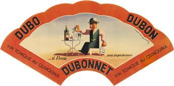 DAPRÈS ADOLPHE MOURON CASSANDRE (1901-1968). DUBO DUBON DUBONNET. Group of 3 items. 1930s. Sizes vary.