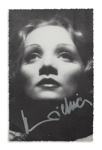 DIETRICH, MARLENE. Group of 19 Photographs Signed, MaDietrich.
