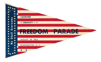 (CIVIL RIGHTS--KING, MARTIN LUTHER JR.) I marched for EQUALITY in the FREEDOM PARADE, August 28, 1963, Washington D.C.