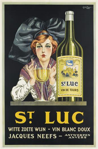 CHILTON (DATES UNKNOWN). ST. LUC / VIN BLANC DOUX. Circa 1928. 60x40 inches, 152x101 cm.