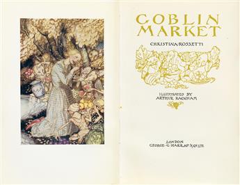 (RACKHAM, ARTHUR.) Rossetti, Christina. Goblin Market.