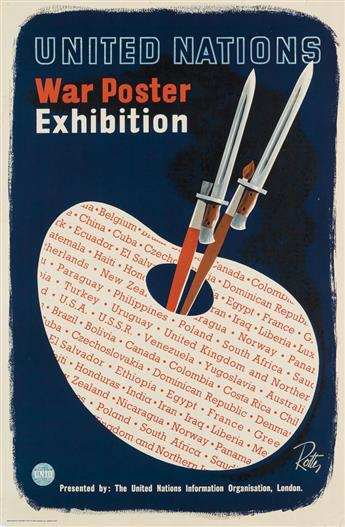 VILEM ROTTER (1903-1978). UNITED NATIONS WAR POSTER EXHIBITION. 1945. 29x19 inches, 7549 cm. Henry Hildesley Ltd, London.