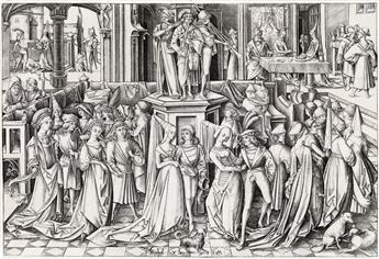 ISRAEL VAN MECKENEM The Dance of the Daughters of Herodias.