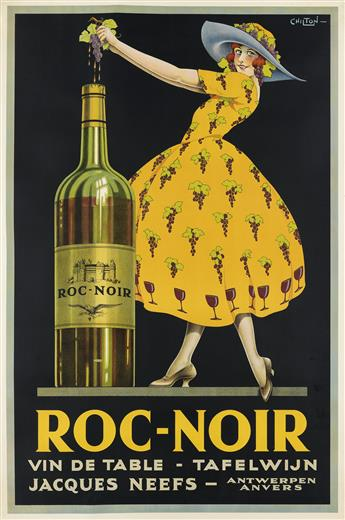 CHILTON (DATES UNKNOWN). ROC - NOIR / VIN DE TABLE. Circa 1928. 60x40 inches, 152x101 cm.