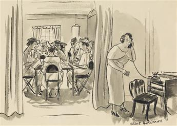 HELEN HOKINSON. (THE NEW YORKER / CARTOON) Just say Entertaining a few of the younger set at bridge.