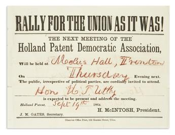 (PRESIDENTS--1864 CAMPAIGN.) Rally for the Union as it Was!