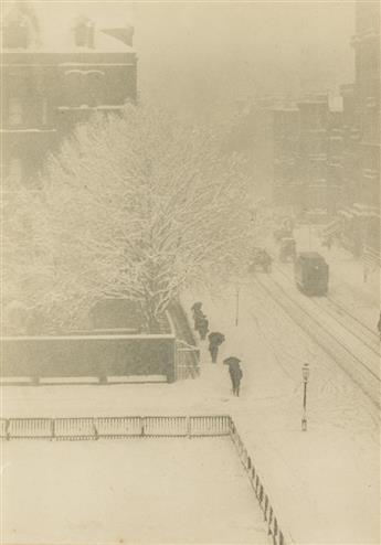 ALFRED STIEGLITZ (1864-1946) Snapshot--From My Window, New York from Camera Work, Number 20.
