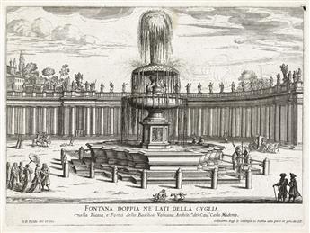 GIOVANNI BATTISTA FALDA Le Fontane di Roma . . . Libro Primo.