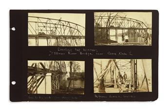 (SCIENCE AND ENGINEERING.) A superintending engineers albums on bridge construction projects in Illinois and elsewhere.