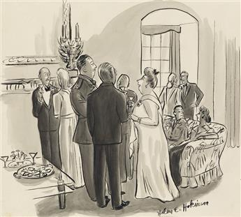 HELEN HOKINSON. (THE NEW YORKER / CARTOON) May I ask you a very rude question? Just what is a burp gun?