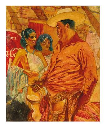 MAHLON BLAINE. Caballero with señoritas.