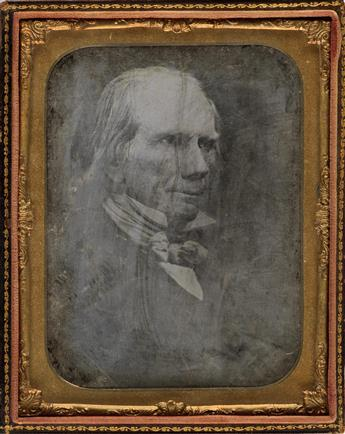 HENRY CLAY (1777-1852) Half-plate daguerreotype of the American statesman Henry Clay, the founder and leader of the Whig Party.