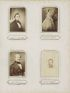 (CIVIL WAR) Album containing 92 cartes-de-visite and tintypes, with portraits of Mr. and Mrs. Lincoln,