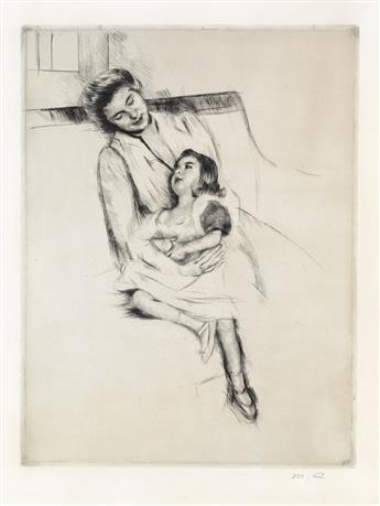 MARY CASSATT Reine and Margot Seated on a Sofa (No. 2).