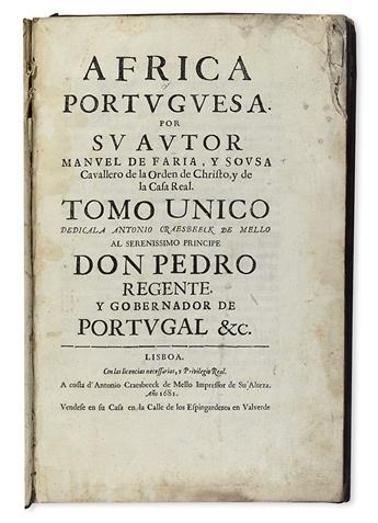 FARIA Y SOUSA, MANUEL DE. Africa Portuguesa.  1681