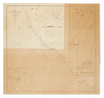 (PEPPER TRADE.) Gillis, James D.; and Whipple, Henry. Chart of the West Coast of Sumatra between Rigas and Diah... A New Edition.