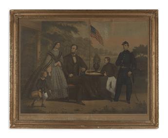 (PRINTS--FAMILY.) [Hohenstein, Anton.] President Lincoln and his Family.