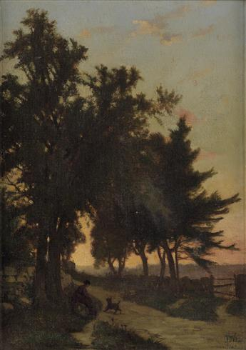 FREDERICK DICKINSON WILLIAMS Landscape at Sunset.
