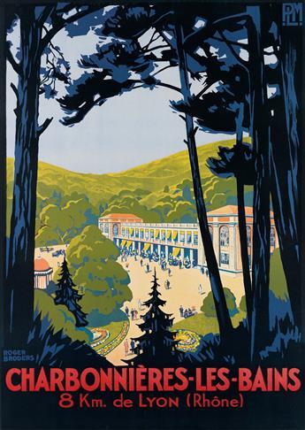 ROGER BRODERS (1883-1953). CHARBONNIÈRES - LES - BAINS. Circa 1927. 42x31 inches, 108x79 cm. Lucien Serre, Paris.