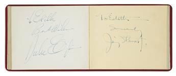 (ALBUM.) Autograph album containing over 50 Signatures, autograph inscriptions Signed, and ink drawings Signed, by Cotton Club entertai