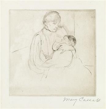 MARY CASSATT Babys Lullaby.